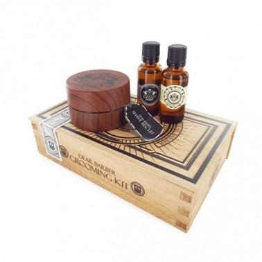 Estuche Productos Cuidado Barba y Bigote Shave Care (aceite + jabón + perfume)