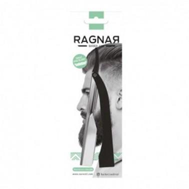 Navaja De Afeitar Profesional Mango Metálico Negro Ragnar-Sorci