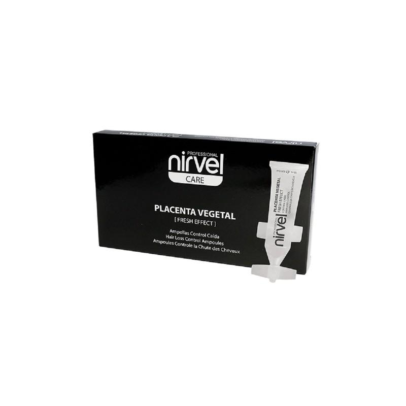 Loción Capilar Placenta Vegetal Nirvel 10 x 10 ml _sorci