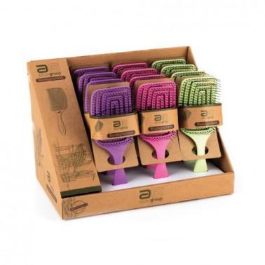 Cepillo Cuadrado Eco Biodegradable Asuer Colores -Sorci