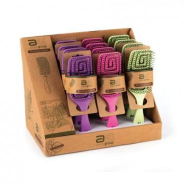 Cepillo Cuadrado Eco Biodegradable Pequeño Asuer- Colores - Sorci