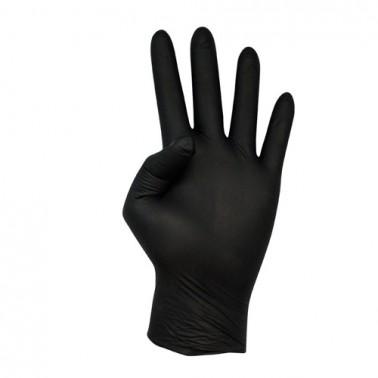 Guantes De Nitrilo Negros Cuatrogasa 100 uds-guantes-sorci