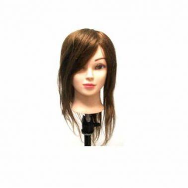 Cabeza Maniquí Pelo Natural 100% Humano 40 - 45 cm - Sorci