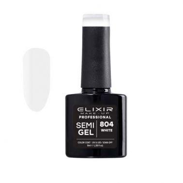 Esmalte Permanente De Uñas Elixir Semi Gel Nº 804 White-Sorci