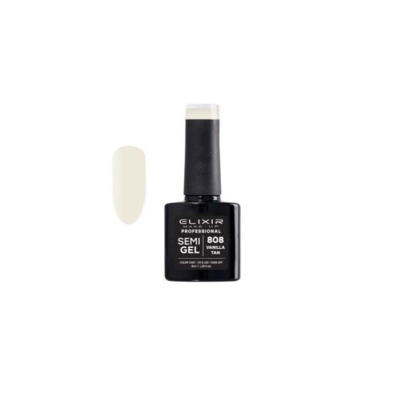 Esmalte Permanente De Uñas Elixir Semi Gel Nº 808 Vanilla Tan-Sorci
