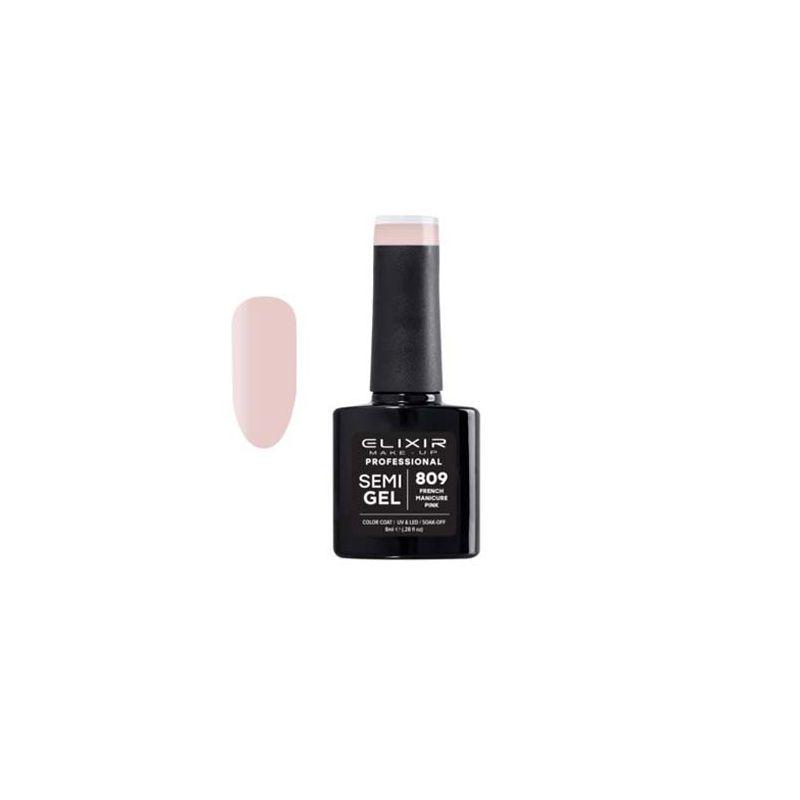 Esmalte Permanente De Uñas Elixir Semi Gel Nº 809 French Manicure Pink-Sorci
