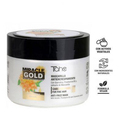 Mascarilla Antiencrespamiento Para Cabellos Gruesos Miracle Gold 300 ml-sorci