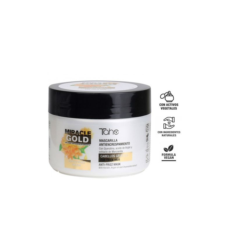 Mascarilla Antiencrespamiento Para Cabellos Finos Miracle Gold 300 ml-Sorci