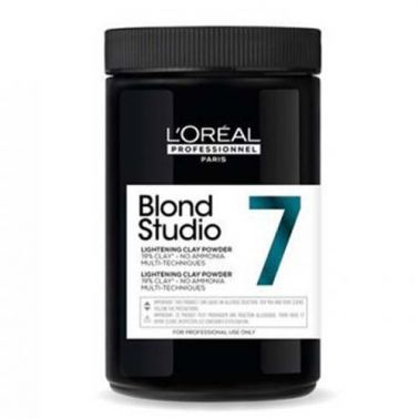 Decoloración En Polvo L'Oreal Blond Studio Multi-Techniques 7 Sin Amoniaco 500 g-Sorci